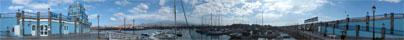 Panorama Foto Hafen las Galletas im Süden Teneriffas