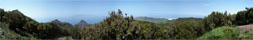 Panorama Foto der Gala Wanderung im Westen Teneriffas