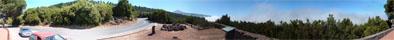 Panoramaausblick vom Aussichtspunkt zum Teide