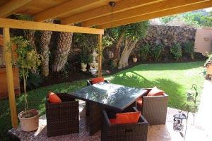 Teneriffa Ferienwohnung Fewo Las Arenas - Garten-Terrasse
