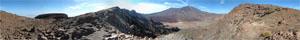 Panorama Foto vom Kraterrand aus fotografiert
