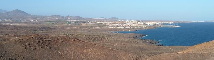 Panorama von der Küste von San Miguel